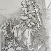 Картины и панно ручной работы. Ярмарка Мастеров - ручная работа Богородица с младенцем, у дерева.. Handmade.