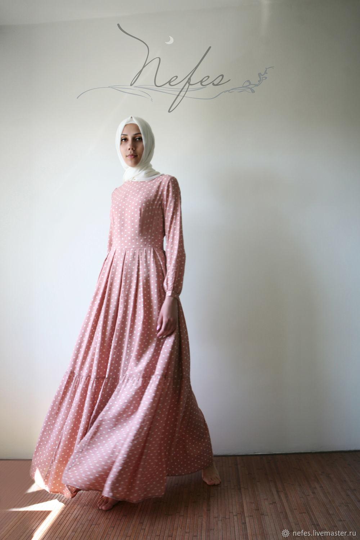 """Платья ручной работы. Ярмарка Мастеров - ручная работа. Купить Платье """"Салима"""". Handmade. Платье, платье в горошек, ярусное платье"""