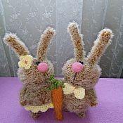Куклы и игрушки ручной работы. Ярмарка Мастеров - ручная работа Вязаные зайки :) Еще одна парочка :). Handmade.