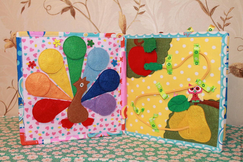 Развивающие книжки из ткани и фетра