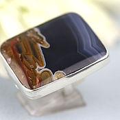 Украшения handmade. Livemaster - original item Ring with agate. Silver.. Handmade.