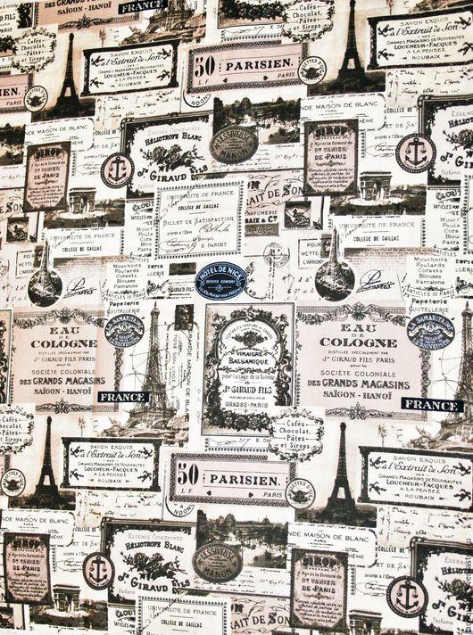 Шитье ручной работы. Ярмарка Мастеров - ручная работа. Купить США Ткань для пэчворка Винтажный Париж. Handmade.