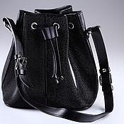 Сумки и аксессуары handmade. Livemaster - original item Leather bag Stingray ImC0537BW. Handmade.