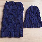 Аксессуары ручной работы. Ярмарка Мастеров - ручная работа Вязаный комплект шапка + снуд. Handmade.