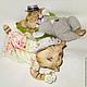 Игрушки животные, ручной работы. Заказать сладкая парочка. Рисположенская Ольга (mumimamma). Ярмарка Мастеров. Бязь, оригинальный сувенир