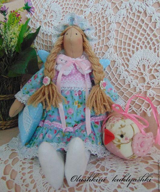Куклы Тильды ручной работы. Ярмарка Мастеров - ручная работа. Купить Сплюшка. Handmade. Голубой, тильда, Сонный ангел тильда
