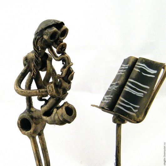 Миниатюрные модели ручной работы. Ярмарка Мастеров - ручная работа. Купить Еврей - саксофонист. Handmade. Скульптурная миниатюра, куклы и игрушки