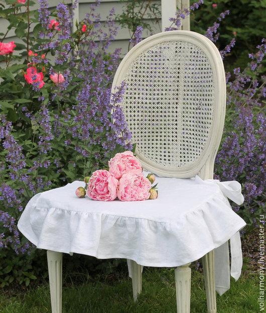 Текстиль, ковры ручной работы. Ярмарка Мастеров - ручная работа. Купить Подушки на стулья.. Handmade. Белый, подушка на сиденье стула