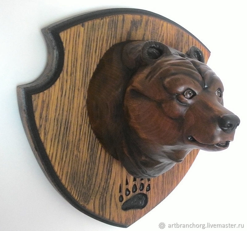 «Хозяин Тайги» / медведь - медальон на стену, Изделия, Воронеж, Фото №1