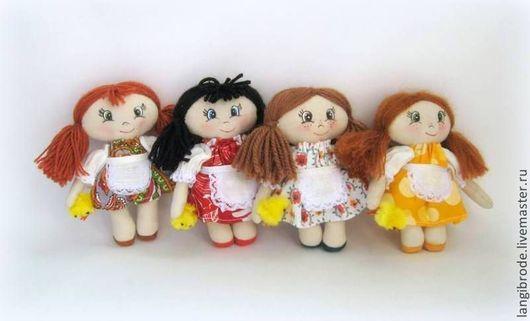 Человечки ручной работы. Ярмарка Мастеров - ручная работа. Купить Кукла Валентина. Handmade. Рыжий, кукла для детей, хлопок