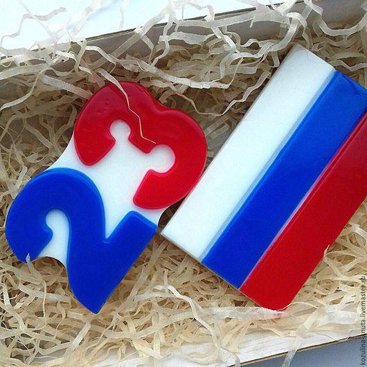 мыло российский флаг,мыло 23 , 23февраля,триколор,флаг,флаг России