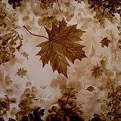 """Картины и панно ручной работы. Ярмарка Мастеров - ручная работа Кофейная картина """"Кленовый лист"""". Handmade."""