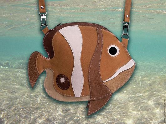 """Детские аксессуары ручной работы. Ярмарка Мастеров - ручная работа. Купить """"Рыбка коралловых рифов"""" - рыжая. Handmade. Рыбка, рыба"""