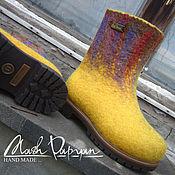 """Обувь ручной работы. Ярмарка Мастеров - ручная работа Валяные детские ботинки """"Солей """". Handmade."""