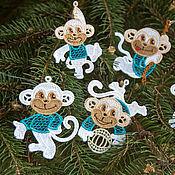Подарки к праздникам handmade. Livemaster - original item Monkeys. A set of Christmas ornaments.. Handmade.