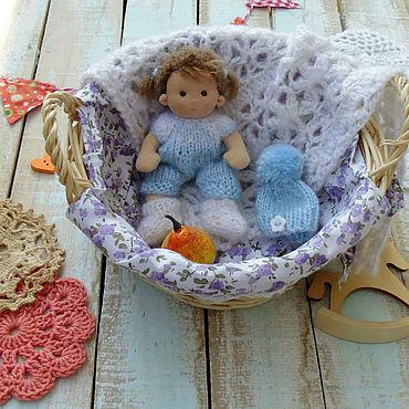 Куклы и игрушки ручной работы. Ярмарка Мастеров - ручная работа Малышка 10 см Вальдорфская кукла. Handmade.