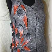 Одежда ручной работы. Ярмарка Мастеров - ручная работа Валяный жилет Падают листья. Handmade.