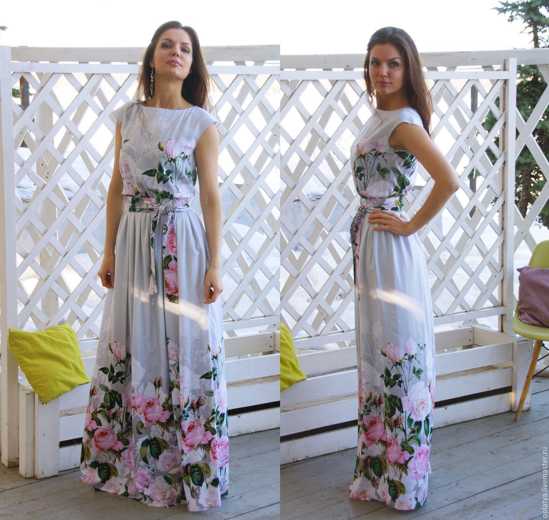 Красивое платье летнее длинное платье