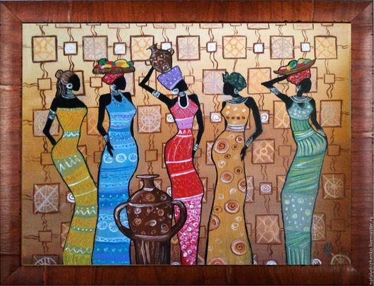"""Пейзаж ручной работы. Ярмарка Мастеров - ручная работа. Купить Картина маслом """"Африканки"""". Handmade. Картина, картина в подарок, подарок"""