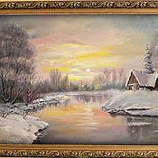 Картины и панно ручной работы. Ярмарка Мастеров - ручная работа Зимний сон или замело всё снежной сказкою.... Handmade.