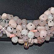 Украшения ручной работы. Ярмарка Мастеров - ручная работа Нежный розовый браслет розовый кварц. Handmade.