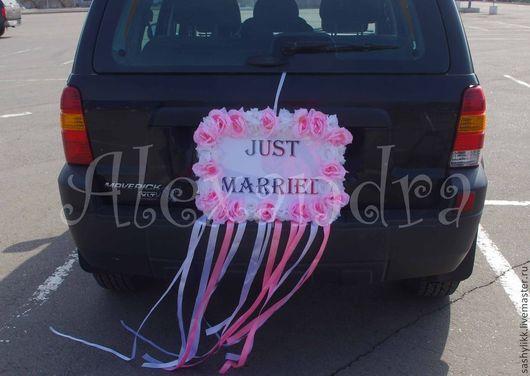 Свадебные аксессуары ручной работы. Ярмарка Мастеров - ручная работа. Купить На авто. Handmade. Бледно-розовый, цветы на авто