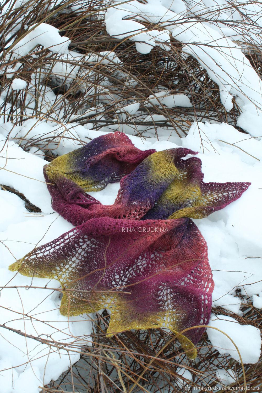 Wool scarf, stole (color ' lavender field'), Scarves, Lomonosov,  Фото №1