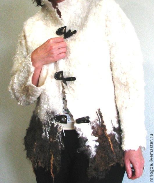 """Пиджаки, жакеты ручной работы. Ярмарка Мастеров - ручная работа. Купить Жакет """"Абадан"""" Эко мех.. Handmade. Валяная одежда"""