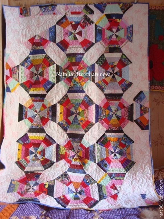 Patchwork, quilted bedspread 'Every day is a Holiday', Blankets, Yaroslavl,  Фото №1
