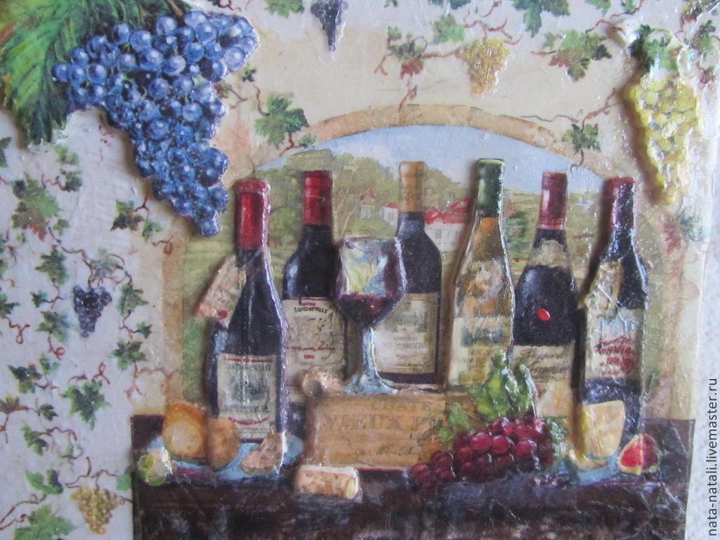 панно настенное (виноградное вино), Картины, Москва, Фото №1