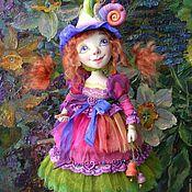 Куклы и игрушки ручной работы. Ярмарка Мастеров - ручная работа кукла Фея цветов Вьюнок Рыжая садовая фея из полимерной глины. Handmade.