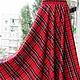 """Юбки ручной работы. Юбка-шотландка """"Красный тартан"""". АЛИСА. Ярмарка Мастеров. Красивая юбка"""