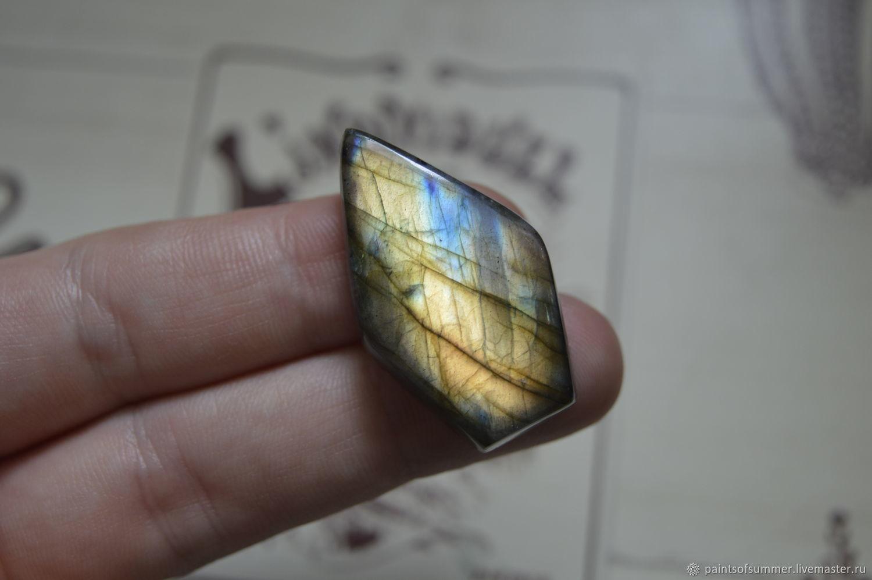 Labradorite. Cabochon 37 X 21 X 8, Cabochons, Moscow,  Фото №1