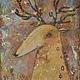 Фантазийные сюжеты ручной работы. Ярмарка Мастеров - ручная работа. Купить Валентин (репродукция). Handmade. Рыжий, зеленый, олененок