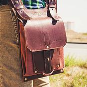 Сумки и аксессуары handmade. Livemaster - original item Leather and canvas crossbody bag. Handmade.