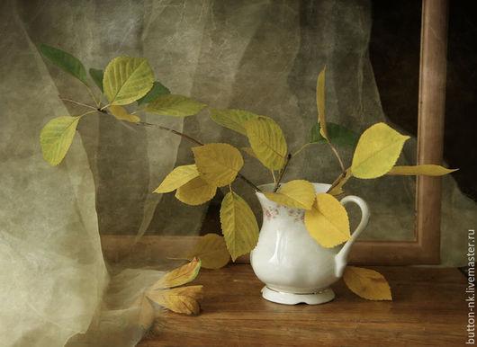 Фотокартины ручной работы. Ярмарка Мастеров - ручная работа. Купить Натюрморт Мелодия осени (осень листья ваза). Handmade. Желтый