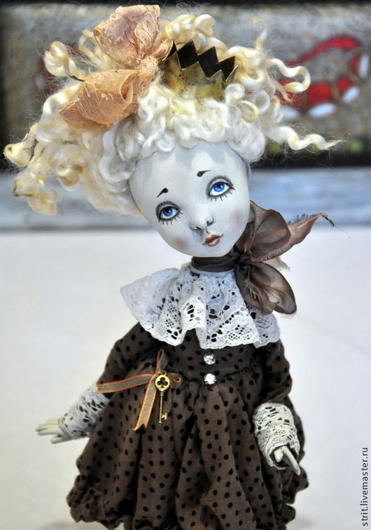 """Коллекционные куклы ручной работы. Ярмарка Мастеров - ручная работа. Купить Авторская кукла """"Облачко"""". Handmade. Бежевый, шерсть"""