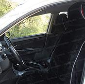 Сувениры и подарки handmade. Livemaster - original item Cushion auto seat from the wool with acrylic (2 PCs), black. Handmade.