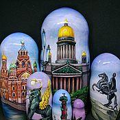 Русский стиль handmade. Livemaster - original item Matryoshka Saint Petersburg. Handmade.