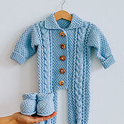 handmade. Livemaster - original item Baby jumpsuit hand knitted cotton (in stock and on order). Handmade.