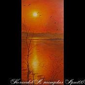 Картины и панно handmade. Livemaster - original item Original Russian painting canvas on subframe 60x30cm landscap. Handmade.