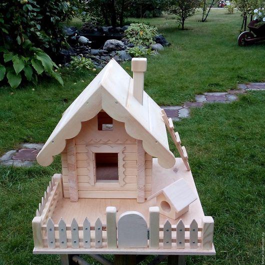 Для других животных, ручной работы. Ярмарка Мастеров - ручная работа. Купить Кормушка для птиц. Handmade. Бежевый, массив