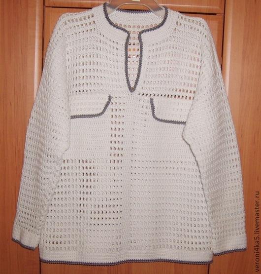 """Для подростков, ручной работы. Ярмарка Мастеров - ручная работа. Купить Белая рубашка """"Карманчики - обманщики"""". Handmade. Белый, акрил"""