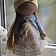 Куклы тыквоголовки ручной работы. Заказать Машенька. Анастасия. Ярмарка Мастеров. Кукла в подарок, тыквоголовка, подарок, текстильная игрушка, бежевый