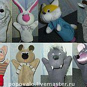 Куклы и игрушки ручной работы. Ярмарка Мастеров - ручная работа Перчаточные куклы для домашнего кукольного театра. Handmade.