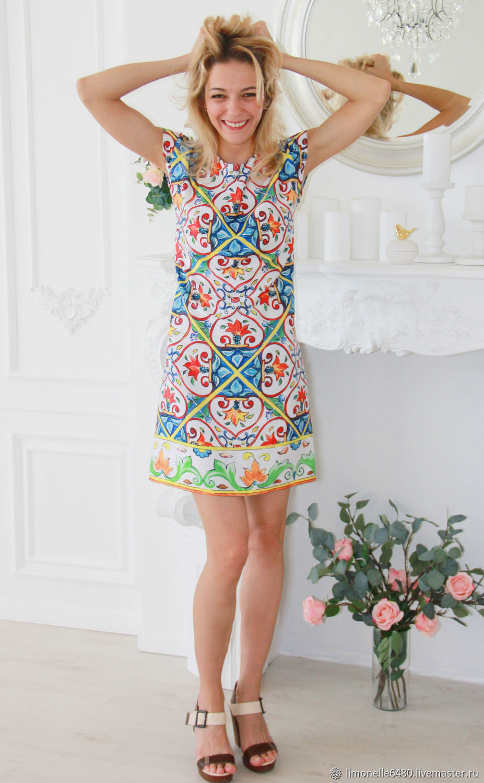 635296b1683 Платья ручной работы. Ярмарка Мастеров - ручная работа. Купить Шелковое  платье в стиле Dolce ...