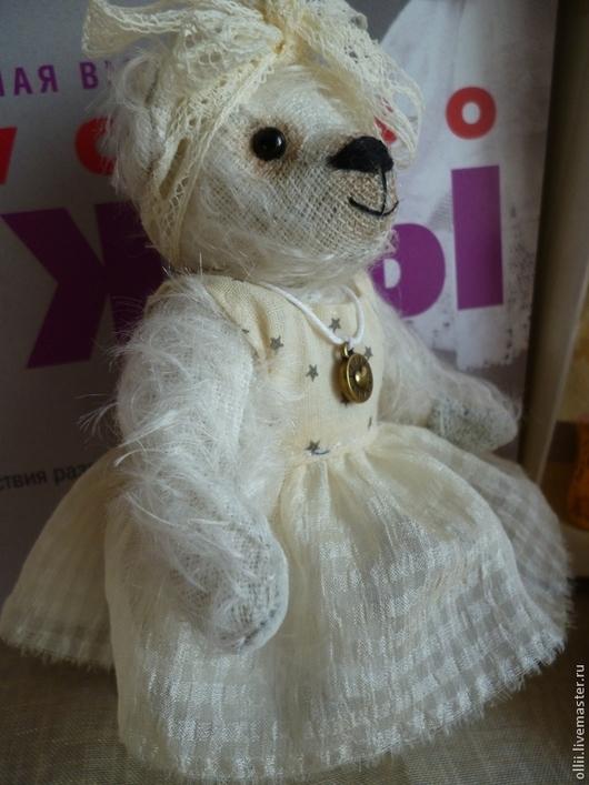 Мишки Тедди ручной работы. Ярмарка Мастеров - ручная работа. Купить Мишка Роза. Handmade. Белый, авторский мишка тедди
