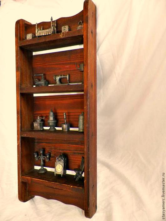 Винтажные предметы интерьера. Ярмарка Мастеров - ручная работа. Купить Коллекция полок  для миниатюр.. Handmade. Полка, полка настенная, миниатюры