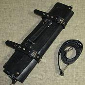 Сумки и аксессуары handmade. Livemaster - original item CASE: Leather chef`s twist for 5 knives black. Handmade.