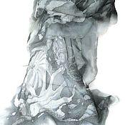 Аксессуары handmade. Livemaster - original item Batik Stole milled Limestone. Handmade.